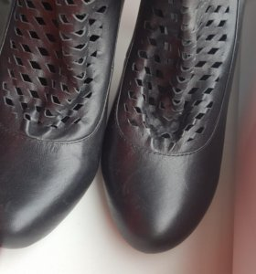 Туфли-сапожки нат. кожа р.35