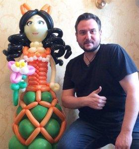 Кукла из шариков