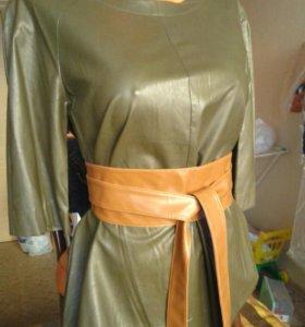 Новая кожаная блузка