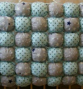 Бомбон коврик, одеяло комплект в кроватку