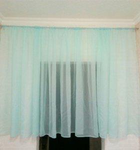 Короткие шторы тюль 5 м на 1,40м