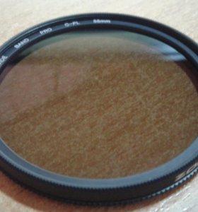 Поляризационное стекло на обьектив зеркалки
