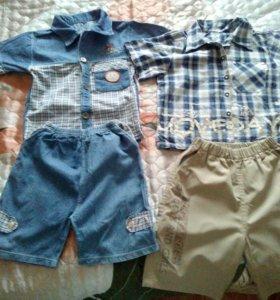 Комплект детский (рубашка и шорты) на 5-6 лет