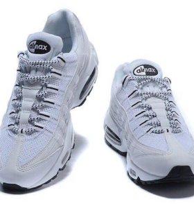 Кроссовки Nike air max 95 Essential белый/серебро