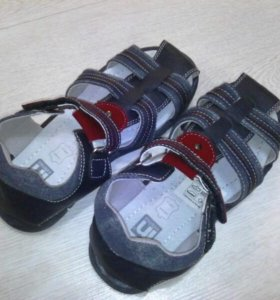 Туфли летние кожа/ткань р-р 34 extenso.