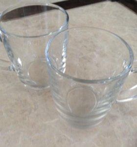 5 стеклянных чашек без рисунка