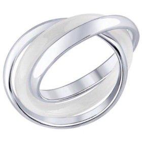 Кольцо Sokolov новое серебро