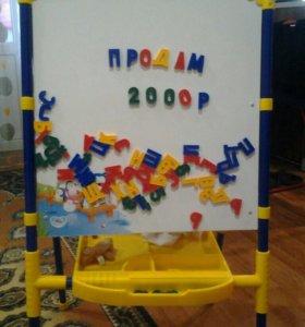 Детская магнитная доска с буквами и цифрами