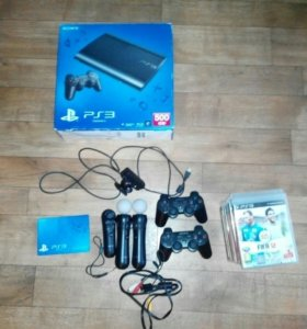 PlayStation3 super slim +PS Move +12 игр