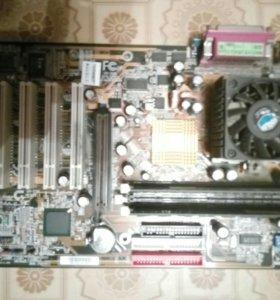 Материнская плата intel+процессор+оперативная памя