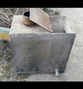 Бак в баню из нержавеющей стали 4мм, на 75 литров