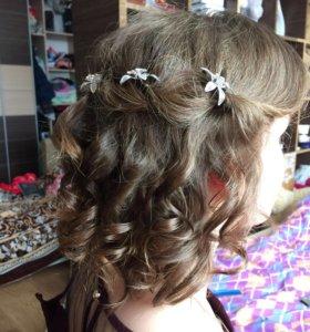 Прически, косы, плетение волосы