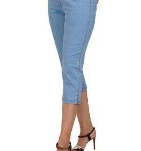 Новые джинсовые бриджи размер 30.