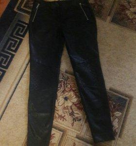 Штаны Zara кожаные