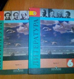 Учебники Литература 6 класс 2 части