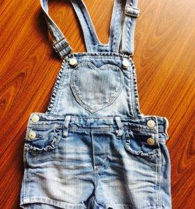 Комбинезончик джинсовый HM