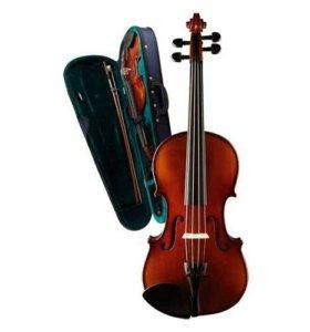 Скрипка 3/4 с футляром и смычком, Caraya