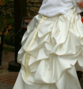 Свадебное платье (юбка + корсет)