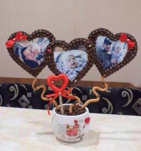 Кофейный топиарий с фото