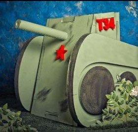 Декоративный танк из пенопласта к 9 мая