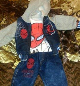 Костюм (свитерок, джинсы и куртка)