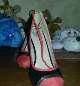 Туфли женские,нат.замша