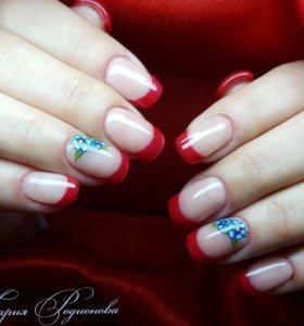 Наращивание ногтей/Покрытие гель-лак ♡