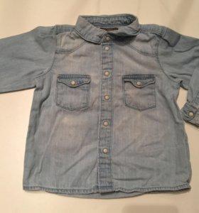 Джинсовая рубашка hm