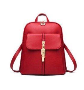 Рюкзак женский  красный бордовый