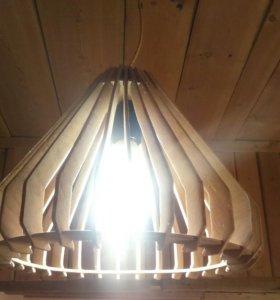 Лампа из фанеры