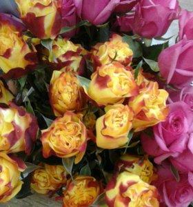 Огнегнные розы