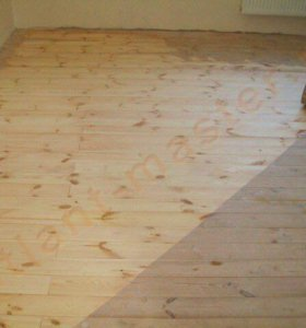 Шлифовка, циклевка деревянных полов, лакировка.