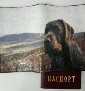 Обложка на паспорт ручной работы.Кожа натуральная