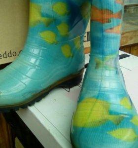Сапожки резиновые с теплым носком