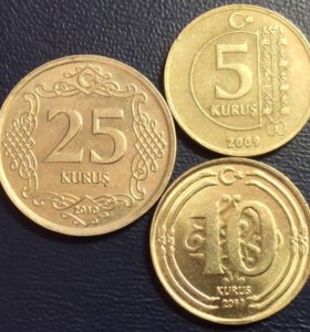 Комплект монет Турции