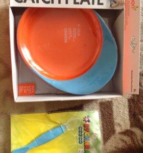 Тарелка и ложечка для малыша