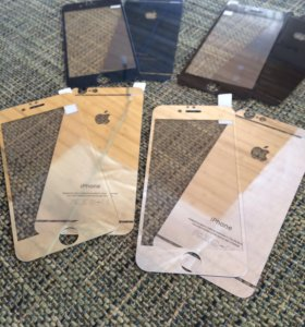Защитное стекло iPhone 6/6s Цветное