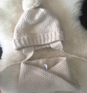 Комплект шапка и снуд Zara