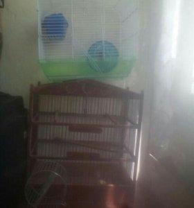 Клетка для хомячков и попугаев
