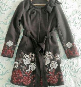 Модное женское пальто, цветочный принт