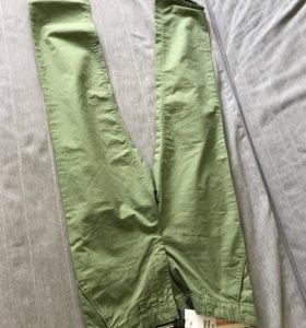 Брюки зеленые h and m