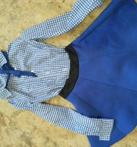 Костюм рубашка и юбка