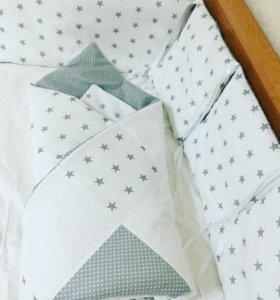 Детские бортики в кроватку