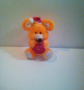 Говорящая игрушка мышка новогодняя