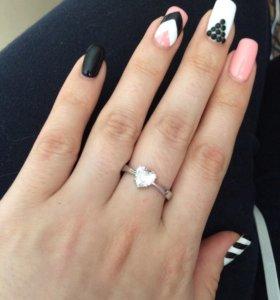 Серебряное кольцо с фианитом Sunlight
