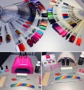 Наборы для покрытия ногтей гель-лаком +