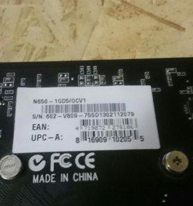 Видеокарта MSI gtx650 1Gb DDR5