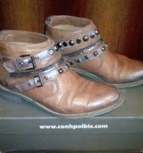 Ботинки розово-бежевые р-р 36