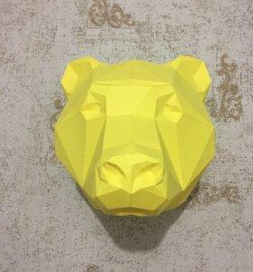 Трофей медведя из бумаги