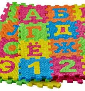 Развивающие коврики-пазлы Буквы и Цифры, 2 модели